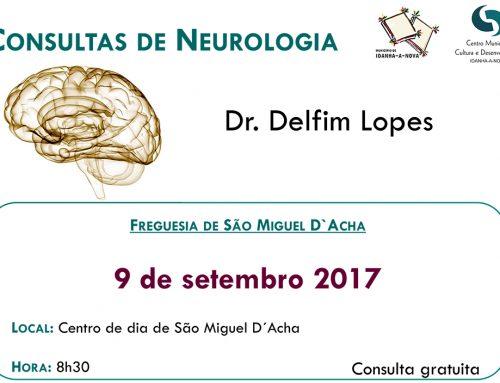 Consulta de Neurologia – 9 de Setembro 2017