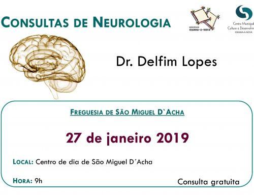 Consultas de Neurologia – 27 janeiro 2019