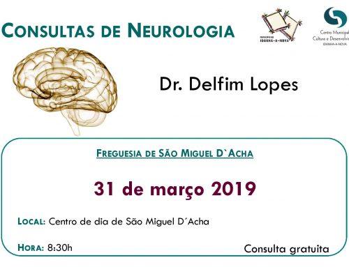 Consultas de Neurologia – São Miguel de Acha 31 de março (domingo) pelas 8:30hrs