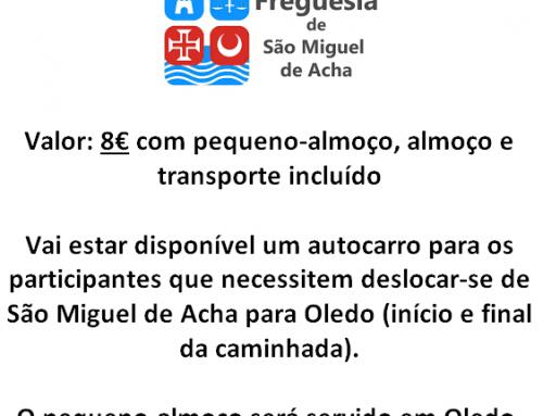 Informações Percurso pedestre Oledo > São Miguel de Acha – 28.abril.2019