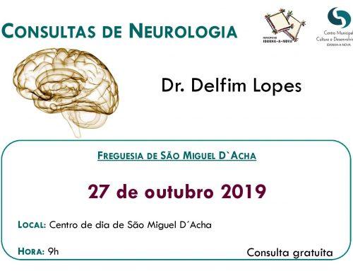 Consultas de Neurologia – 27 de outubro de 2019