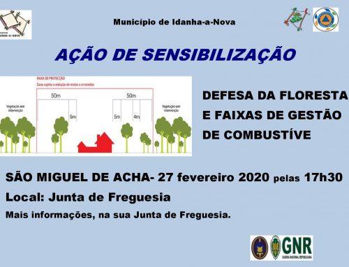 Ação de Sensibilização – Defesa da Floresta e Faixas de Gestão de Combustível