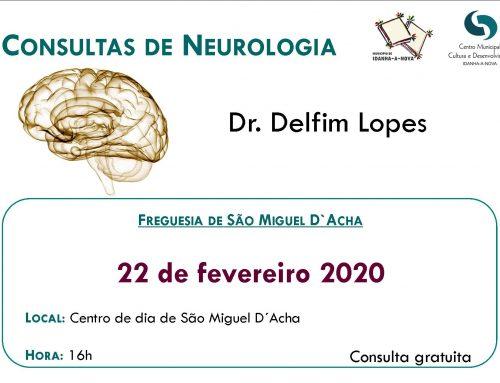 Consultas Neurologia – São Miguel D´Acha – fevereiro 2020