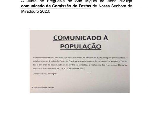 Informação da Comissão de Festas