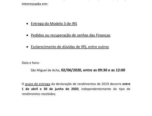 COMUNICADO IRS 2020