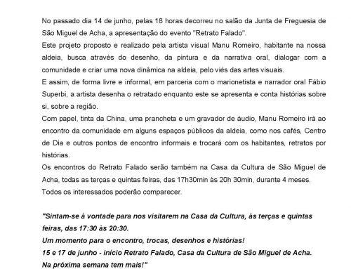 Retrato Falado – São Miguel de Acha