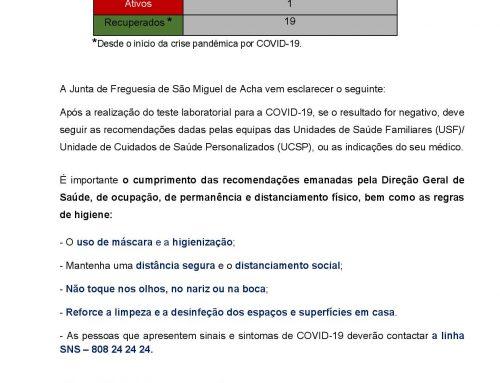 Informação à população COVID-19 – 27.06.2021